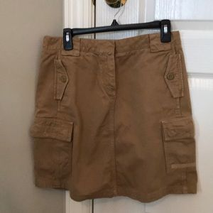 J Crew cargo skirt, mustard color, cotton